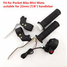Motorcycle Dirt Bike Hand Grips Kill Stop Switch Twist Throttle Brake Levers Kit