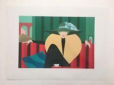 AMLETO DALLA COSTA,'STRIPED SOFA' RARE AUTHENTIC 1980's GLOSS LITHOGRAPHIC PRINT