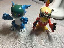 Very Rare Digimon Hawkmon Veemon Electronic Talking Action Figures Bandai 2000