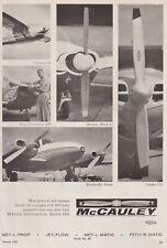 Aviation Magazine Add - McCauley Propellers Add (1962)