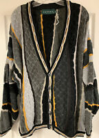 Vintage Tundra Canada Cardigan Button Sweater Textured Coogi Style Men's XL New!