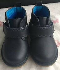 boys leather MotherCare shoes Infants size uk 3 in dark navy new (other)EC