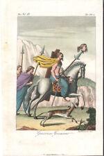 GERMAN WARRIORS - MODERN & ANTIQUE COSTUME * RARE COLOUR PLATE 1828