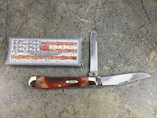 Case Sawcut Carmel Bone Trapper #33980 Clip & Spey Blades