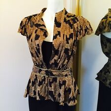 Silk Frill Top By Aganovich & Yung Size 10