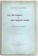 BREHIER & BATIFFOL LES SURVIVANCES DU CULTE IMPERIAL ROMAIN 1920 RITE SHINTOISTE