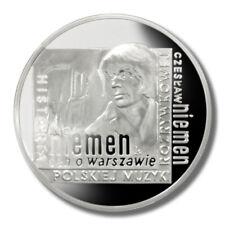 2009 Polish 10zł Czesław Niemen Silver Coin
