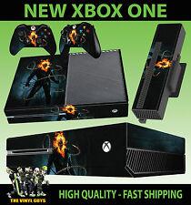 Etiqueta engomada de la consola XBOX ONE Ghost Rider Johnny Blaze cráneo calcomanía de la piel y 2 Pad Skins