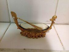 "Vintage Italian Metal Venetian Boat Salt Cellar "" rare """