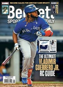 New AUGUST 2021 Beckett SPORTS CARD MONTHLY Price Guide with VLADIMIR GUERRERO