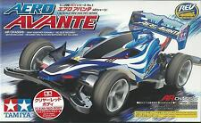 TAMIYA 1:32 MINI 4WD AERO AVANTE AR CHASSIS CLEAR RED BODY CON MOTORE ART 95038