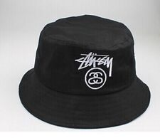 Black Retro Outdoor KYC Bucket Hat Summer Unisex Sun Hunting Fishing Cap Beanie