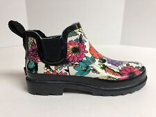 Sakroots Rhyme Black Multi Colored Ankle Rain Boots Women's Size 9M