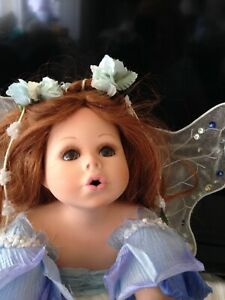 "PORCELAIN COLLECTABLE FAIRY-ANGEL  DOLL Florence Maranuk ""Skye"" NEW, with stand"