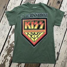 KISS • 40 YEARS STRONG • Rock Band • Men's LIVE SHOWS MERCHANDISING Shirt SMALL