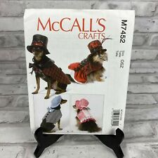 Pet Costumes One Size Only McCalls Pattern M7452 New
