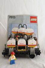 Lego 7813 Shell Tankwaggon 12Volt/ 4,5 Volt mit BA Eisenbahn 1980