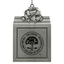 The Citadel-Pewter Christmas Holiday Ornament-Silver