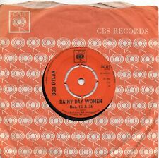 BOB DYLAN    RAINY DAY WOMAN /  PLEDGING MY TIME    UK CBS   60s POP