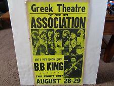BB KING / THE ASSOCIATION GREEK THEATRE ORIGINAL AUGUST 1970 CONCERT POSTER