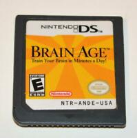 BRAIN AGE: TRAIN YOUR BRAIN IN MINUTES A DAY NINTENDO DS GAME 3DS 2DS LITE DSI
