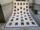 Moroccan Vintage Handmade Beni Ourain Wool Blanket Rug Berber Carpet