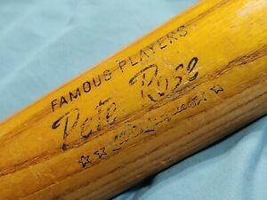 "Vintage Wilson ""Flame Fused"" A1512 Wood Baseball Bat 27"" ~ Signed:  Pete Rose"