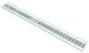 """Ruler 30cm 12"""" Strong Clear Shatter Resistant Plastic Back to School College Uni"""