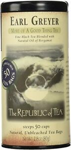 Earl Greyer Tea by The Republic of Tea, 50 tea bags with Caffeine