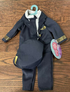 """NEW My Life As Boy 18"""" Doll Blue Pilot Outfit w/ Hat Airplane"""