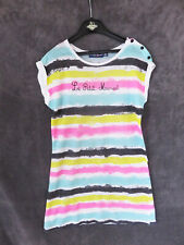 ROBE  LEGERE COTON RAYURES COLOREES ♥ LITTLE MARCEL  ♥ T 10  ANS TBE +++ ☺