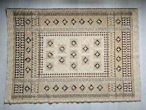 """Rug Heavyweight Fabric 200 x 140cm  55"""" x 79"""" inch BROWN BEIGE"""