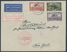 Katapultpost 6.8.1931 Zuleitung Saargebiet Beleg in die USA (S16717)