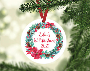 Personalised Baby's First Christmas, Tree Decoration
