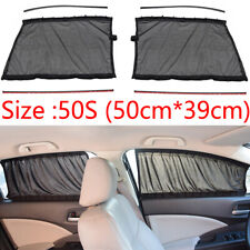 2xUniversal Car Side Window Curtains Sun Shade UV Protection Accessories 50x39cm