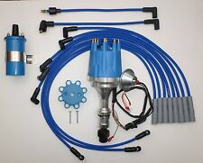 Small Cap OLDSMOBILE 350,400,403,455 BLUE HEI Distributor+ 45K Coil + PLUG WIRES