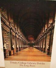 "Vintage David Davison TRINITY COLLEGE LIBRARY DUBLIN THE LONG ROOM 28x18"" POSTER"