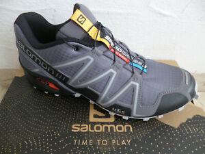 Salomon Chaussures de Sport Chaussures Basses Baskets Speedcross Gris Neuf