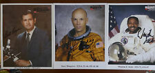 Lot of 3 Nasa Astronaut Hand Signed 8x10 Photos Skylab 4 Shuttle 100% Authentic