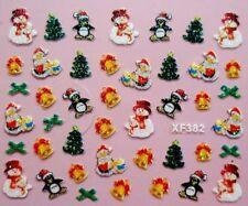 Accessoire ongles, nail art- Stickers noël : Bonhommes de neige, sapins, pinguin