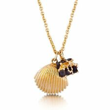 Disney Couture Gold-Plated Little Mermaid Treasure Chest Shell Necklace