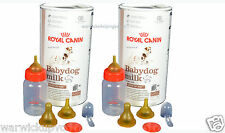 2 X 400G Royal Canin Alimento Cachorro Leche kit de parto a granel y 2 Botellas & Tetinas