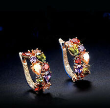Fashion Womens Lady Elegant Crystal Rhinestone Ear Stud Earrings Jewelry