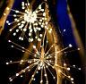 1.2m Firework Curtain Light Warm White LED Christmas Fairy String Lights Xmas