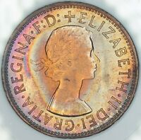 1964 GREAT BRITAIN 1 ONE PENNY GEM BU FLAWLESS TONED CHOICE COLOR UNC (DR)