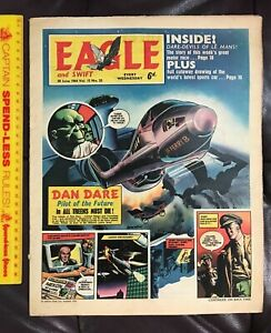 VINTAGE JUN 1964 EAGLE BRITISH COMIC DAN DARE BAZOOKA JOE PREMIUM SIREN RING AD!