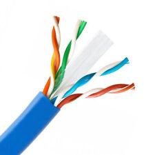 Cat6 Plenum 100% Pure Copper Cable 1000ft Blue