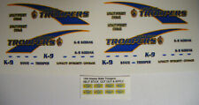 Alaska State Trooper 1:64 Water Slide Decals Fits GL Police SUV