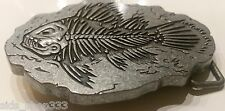 ♈ FISHING FISH FOSSIL Belt Buckle ♈ Skeleton Boneyard collectible us seller