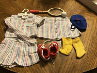 AMERICAN GIRL Molly Tennis Outfit Limited Edition Complete EUC RETIRED